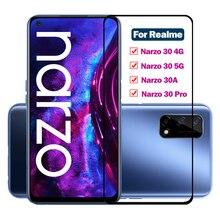 9H Full Cover Tempered Glass for Realme narzo 30 pro 30a 5G ScreenProtectors Protective Film Narzo 30A 30 Pro Narzo30 PRO Vidrio