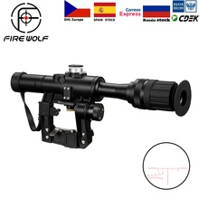 FIRE WOLF 4x24 PSO Type Riflescope SVD Sniper Rifle Series AK Rifle Scope for Hu