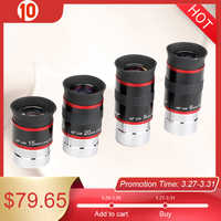 "4 pcs/set Eyepiece Kit FMC 1.25"" 68 Degree Ultra Wide Angle 6/9/15/20mm for Astronomical Telescope Monocular Hot F9150A"