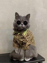 Cat Hoodie Hairless Sphinx  Fashion Leopard Print Roupa Pra Cachorro Ropa Gatos French Bulldog Clothes Pet