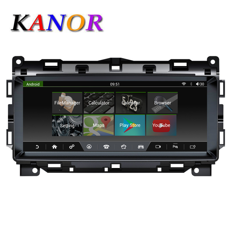KANOR 10,25 zoll Touch Screen <font><b>Android</b></font> 7,1 2 + 32G Auto GPS Multimedia Navigation <font><b>F</b></font>ür Jaguar <font><b>F</b></font> Tempo 2016 2017 2018 Autoradio Stereo image