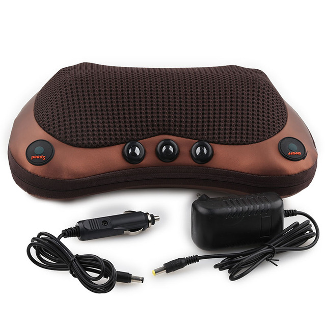 Relaxation Massage Pillow Vibrator Electric Neck Shoulder Back Heating Kneading Infrared therapy Massage Pillow 3