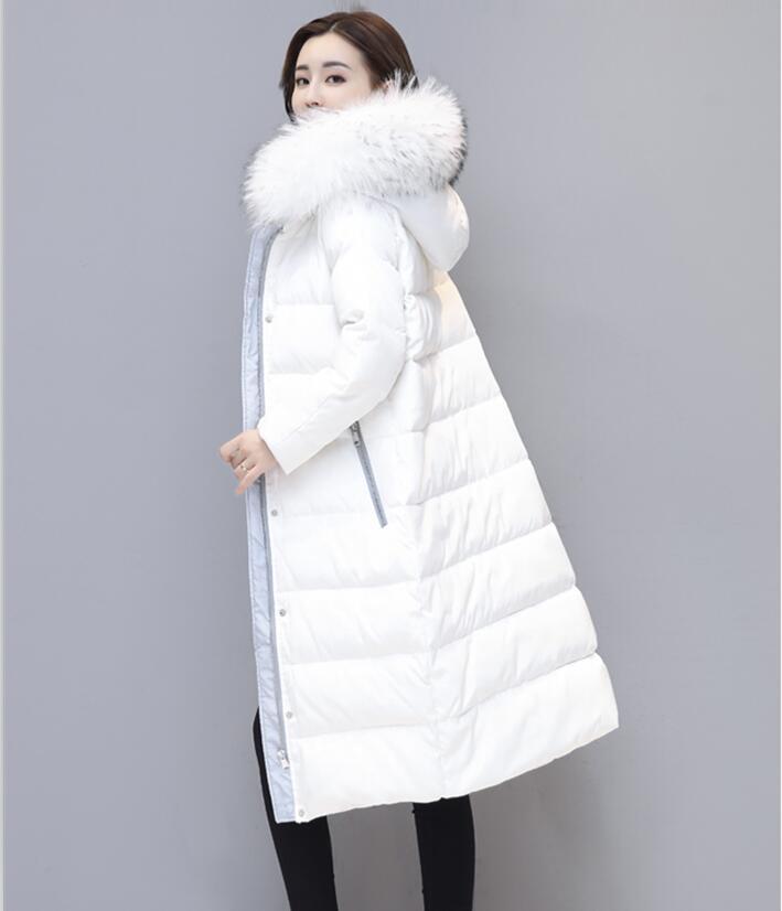 Winter Women's   Down   Jacket Long   Down     Coat   Female 2019 New Large Fur Collar   Down   Jacket Women   Coats   Outerwear