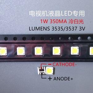 Image 2 - 2000 stücke LUMEN LED SMD 3535 3537 1W 3V Kühles weiß Lcd hintergrundbeleuchtung für TV A129CECEBP19C 4JIAO