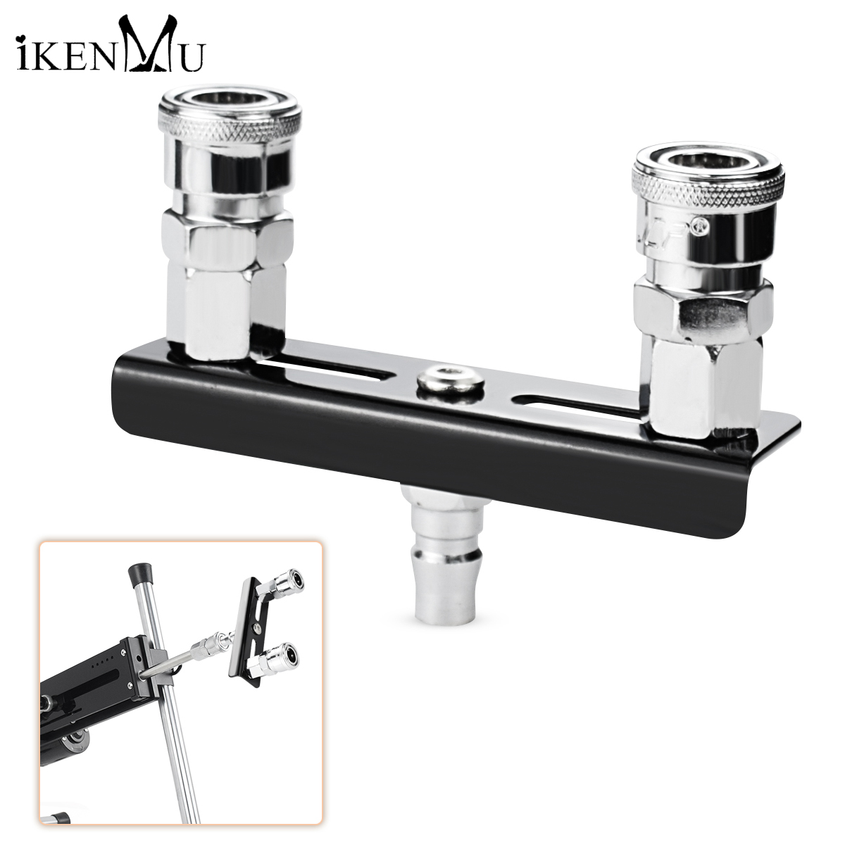 iKenmu Metal Double Quick Connector <font><b>Sex</b></font> <font><b>Machine</b></font> <font><b>Dildos</b></font> Holder Attachment Vac-u-Lock <font><b>Dildos</b></font> Holder Attachment Adult <font><b>Sex</b></font> Products image