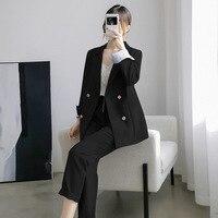 Pants suits elegant woman womens outfits suit female large size section office ladies commercial uniform OL 2 piece sets