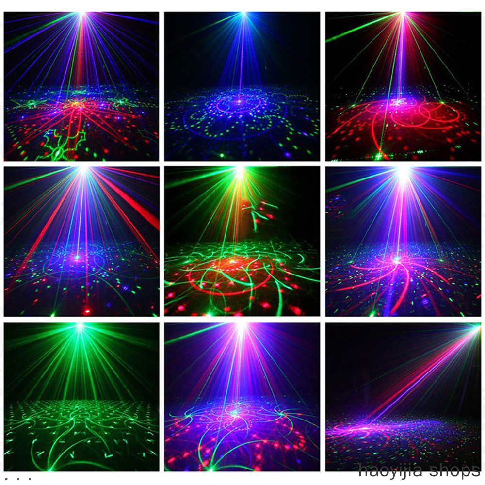 New DJ Club Bar KTV Series LED Stage Light Audio LED Laser Projector RGB Party Light Show And Control LED Disco Light Effect