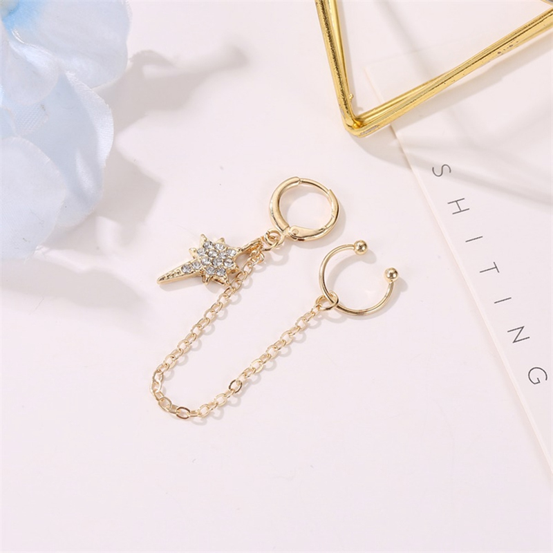 Long Tassel earrings long section of Astral Street beat the influx of people female earrings  ear bones clip