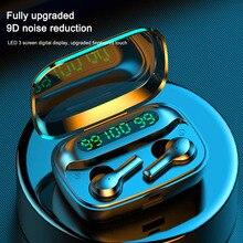 R3 TWS Wireless Earphone Bluetooth HIfi Sport Head phone Waterproof 2000mAh Power Bank Touc