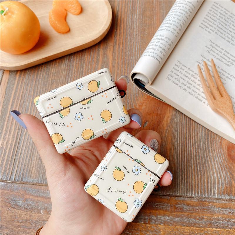 Милый оранжевый мягкий чехол для apple airpods pro s силиконовый