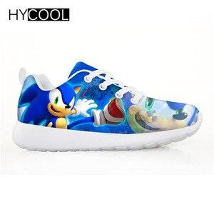Image 3 - HYCOOL enfants chaussures pour enfants garçons Sonic le hérisson baskets plates Sports de plein air chaussures de course Chaussure Enfant Garcon Fille