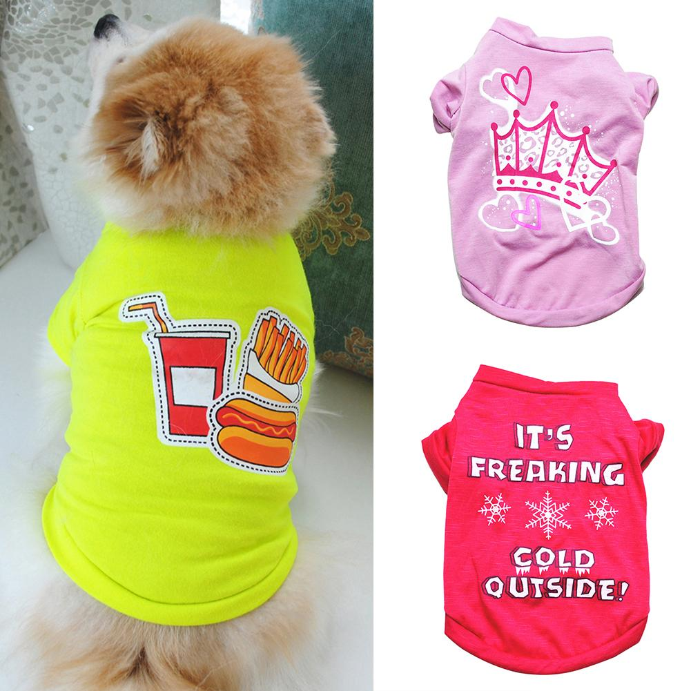 Dog Summer Princess Crown Pattern Vest Pet Clothes Sleeveless T-Shirts Apparel Costume Dog Clothes