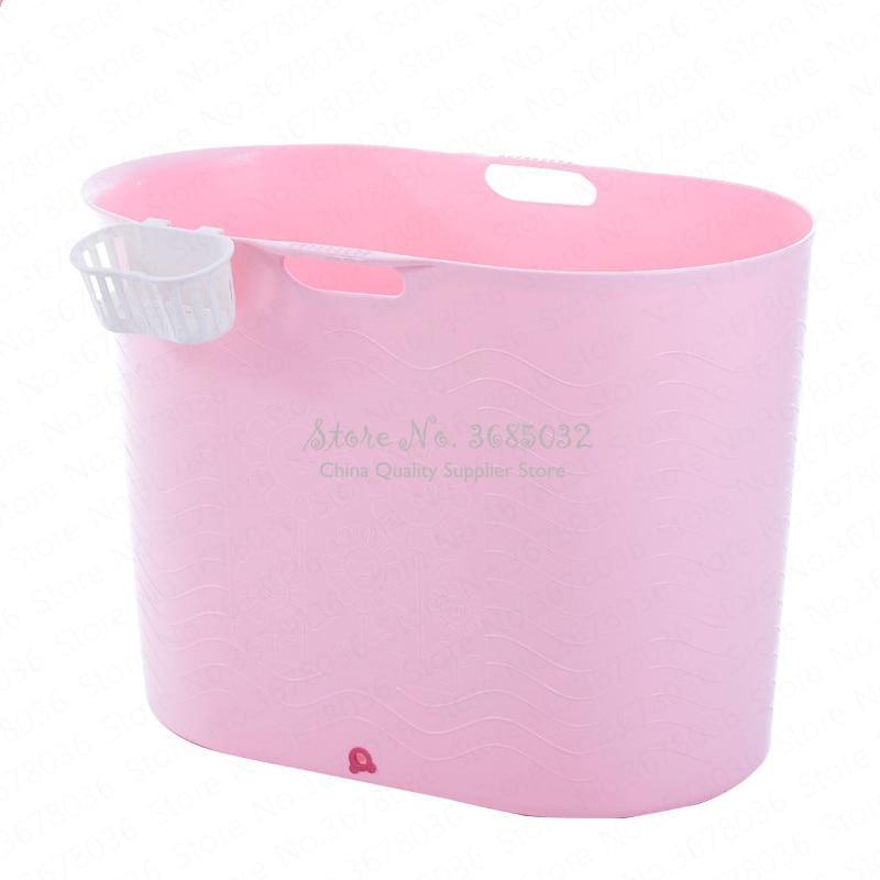 Big Folding Bath Tub Adult Tub Bath Barrel Bath Barrel Household Thick Plastic Fumigation Bath Barrel