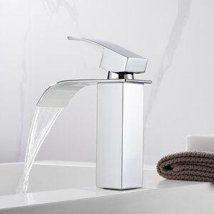 Image 3 - Yepyeni cilalı havzası evye su musluğu tek kolu tek musluk mikser delik güverte üstü havzası banyo musluk WB 003