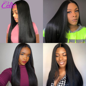 Image 4 - Celie Straight Hair Bundles Deal Brazilian Hair Weave Bundles 10 30 inch Brazilian Hair Extensions Remy Human Hair Bundles