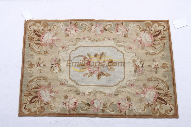 Tapis pour la maison 100% laine à la main tapis aiguilleté 61CMX91CM2'X 3' palace aubusson motif vert gc028neeyk2004-3