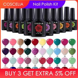 COSCELIA 20Pc/80 Colors Nail Gel Set Optional Harmless UV Gel Polish Soak Off Nail Varnish Kits Semi Permanent Led Nail Gel
