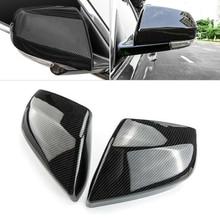 цена на DWCX 2PCS Carbon Fiber Texture Side Rearview Mirror Cover Cup Protector Trim ABS Fit For Cadillac ATS-L 2014 2015 2016 2017 2018
