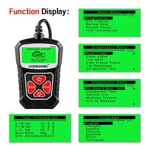 Image 4 - KONNWEI Herramienta de escaneo de diagnóstico de coche KW310 OBD2, lector de código automotriz con ruso OBD 2, herramientas automáticas PK ELM 327 V 1 5 AS100