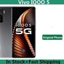 Original vivo iqoo 5 5g telefone móvel snapdragon 865 android 10.0 6.56