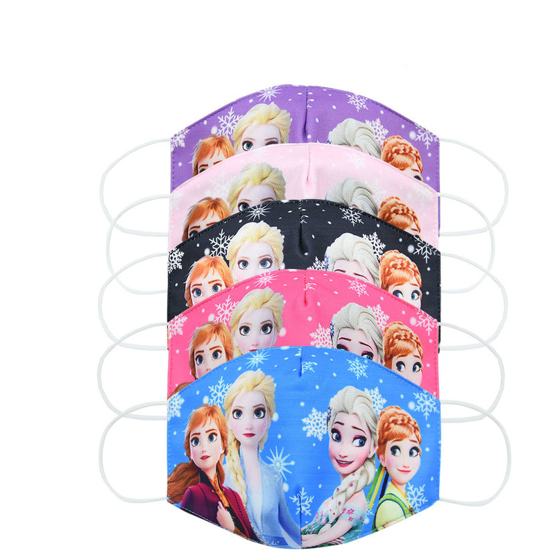 2020 New CartoonDisney Frozen Dust Washable Masks Breath Anti-Dust Pollution Face Mouth Mask Breathable For Children Kid Adult