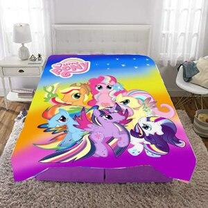 Image 3 - Cartoon my little pony Coral Fleece Plush Single Fall Blanket For Bed Sleeping Cover Bedding Unicorn Throw Blanket unicorn