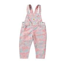 Штаны для маленьких девочек Свободные Комбинезоны с цветочной