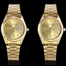 Get more info on the Men Luminous Hand Golden Watch Business Stainless Steel Date Day Display Quartz Analog Clock Luxury Wristwatch Relogio Masculino