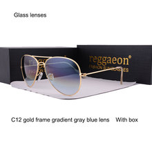 2020 Glass lenses sunglasses Men women Eyewear lLarge frame