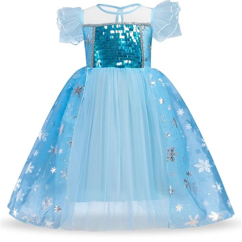 Fancy Snow White Princess Dress Christmas Costume Halloween Cosplay Dress up Baby Girl Clothes Birthday Party Kids tutu Dress 6