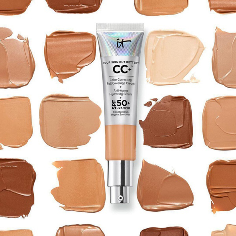 It Cosmetics CC Cream Matte Concealer Oil-Control Makeup Base Full Cover Dark Circle Eyes Make Up SPF 50+ Skin Brighten Cream