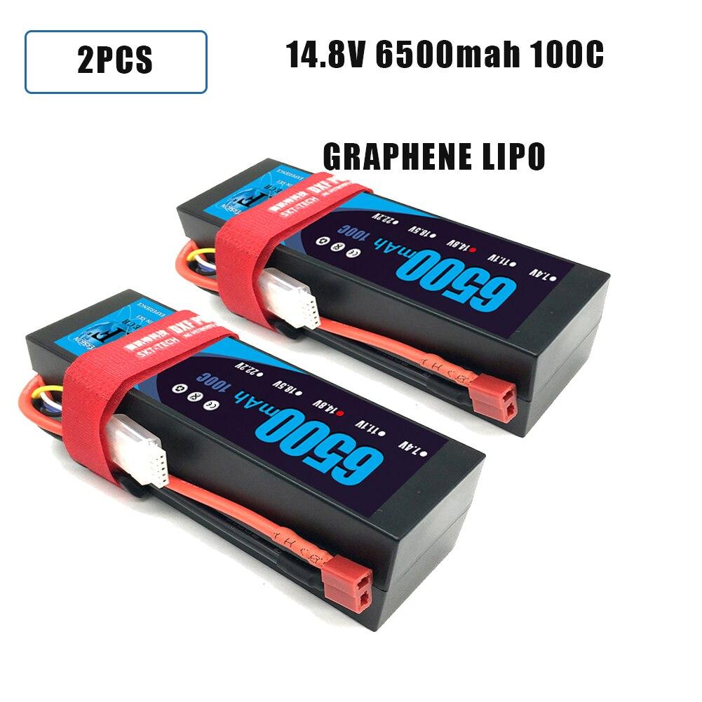 DXF Lipo 4S Battery Hard Case 14.8V 5200mah 6500mAh 50C 100C 200C AKKU For 1:8 1:10 RC Car E Buggy Truggy Truck Boat
