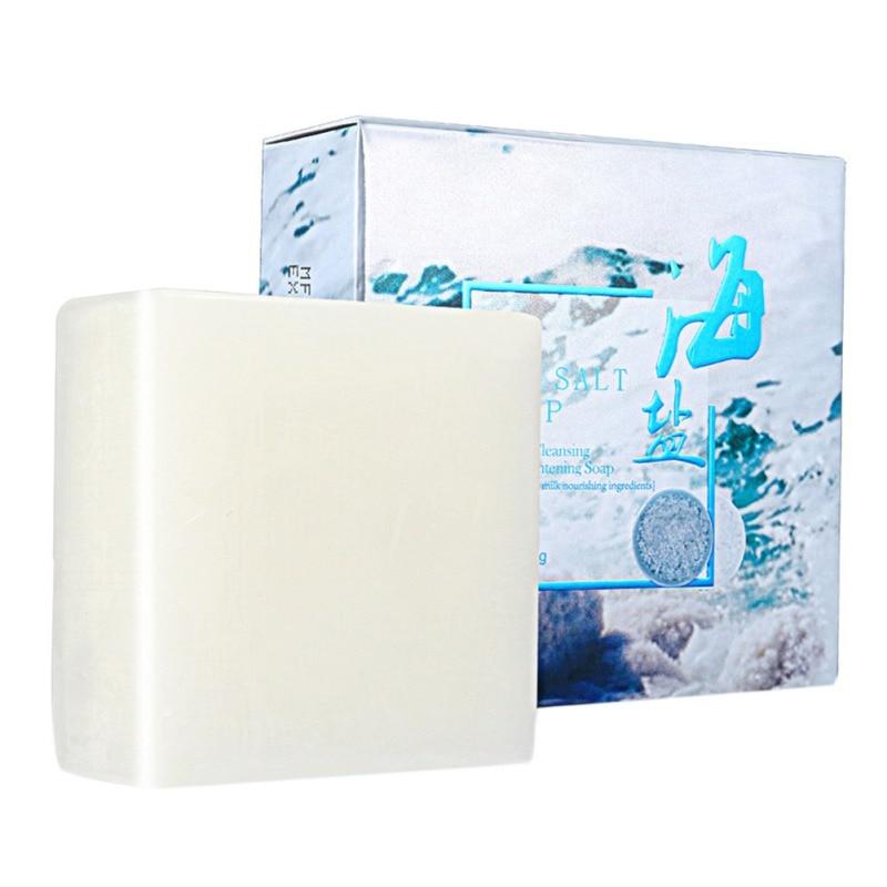 100 г море соль мыло ручной работы козье молоко очищающее средство для лица сухое натуральное жирное кожа прыщи поры удаление прыщи лечение увлажнение