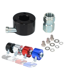Steering Wheel Quick Release Disconnect Hub 3/4 Shaft Size Aluminum Alloy 3 Hole With Push Button