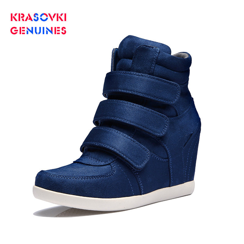 New Krasovki Genuines Spring Autumn Women Shoes Hook Loop Dropshipping Invisible Heighten Casual Korean Version High Heeled Shoes
