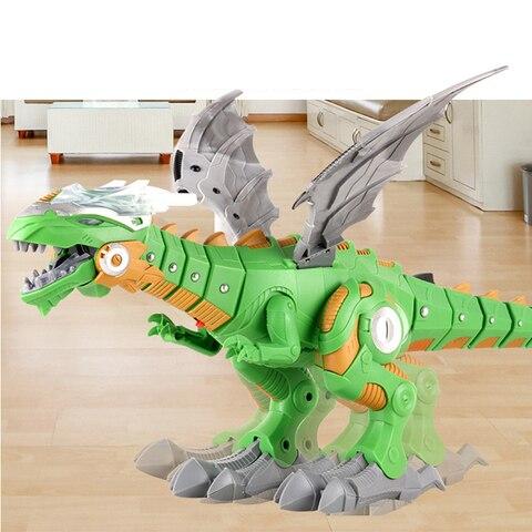 criancas grande spray dinossauros mecanicos com asa