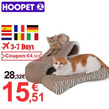 HOOPET 2 Premium Cat Scratcher Corrugated Paper Toys Cat Scratching Cat Scratch Board with Catnip Infinity Lounge Corrugated 1