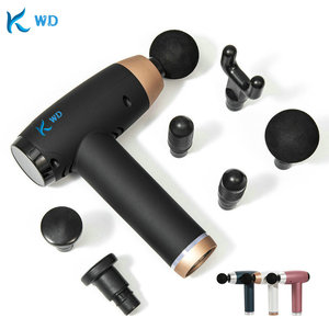 2021 New Touch Screen Massage Guns 6 Heads Muscle Massager LCD Display Relax Deep Tissue 30 Speed Slimming Fascia Gun USB Charge(China)