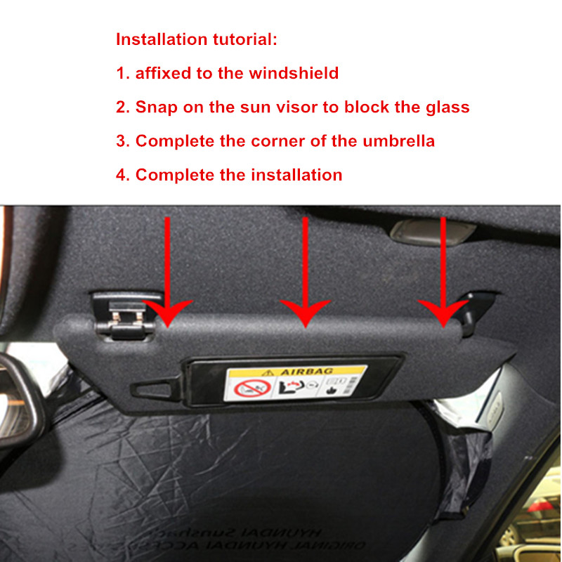 Car Sunshade Front Window Protection Shield Windshield Visor Cover For Skoda Octavia 2 A7 A5 A4 Vrs Fabia 2 Rapid Yeti Superb in Windshield Sunshades from Automobiles Motorcycles