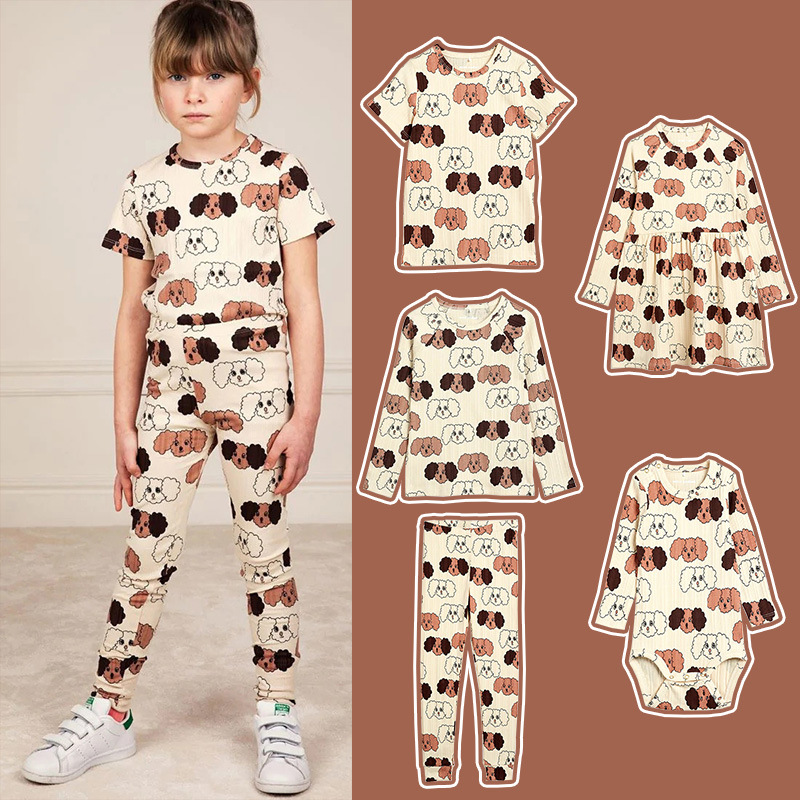 Toddler Girl Outfits 2021 New Spring MR Brand Girls Dress Cartoon Fashion Baby Boy Clothing Kids Designer Clothes Thanksgiving 1