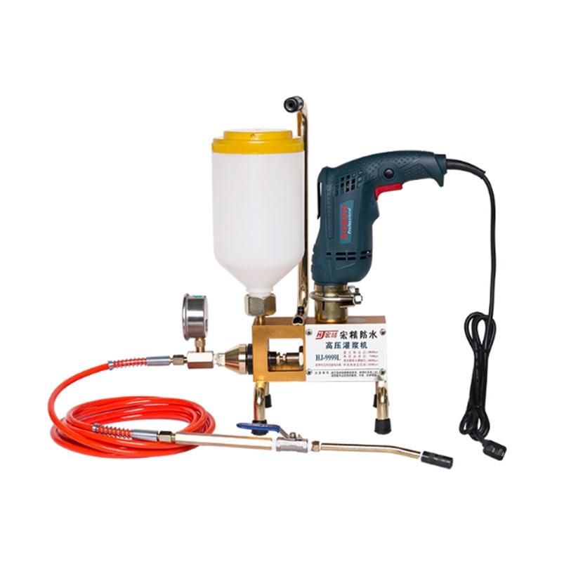 Epoxy Injection Pump Epoxy / Polyurethane Foam Grouting Machine Steel HosePolyurethane Crack 999 High Quality 810/910/1300W