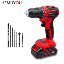 Screwdriver Power-Tools Cordless-Drill Lithium-Ion-Battery Brushless Mini Household DIY