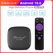 Caixa de tv inteligente x88 pro t android 10.0 1g 8g 2g 16g 2.4g 5g wifi h313 youtube 4k media player x88pro t conjunto caixa superior