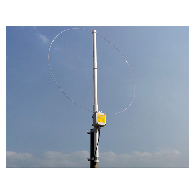 $ US $47.28 K-180WLA Active small Loop short wave antenna Broadband Receiving Antenna 0.1MHz-180MHz SDR radio antenna