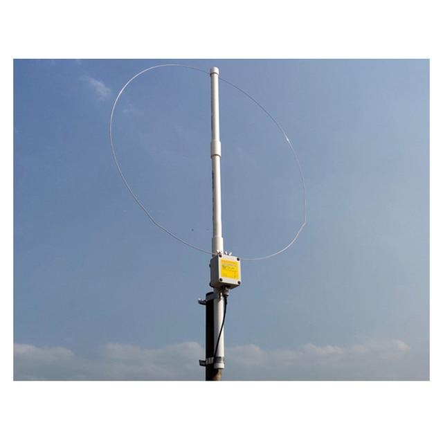 K 180WLA aktif küçük döngü kısa dalga anten genişbant alıcı anten 0.1MHz 180MHz SDR radyo anteni
