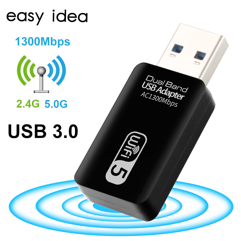 Wifi USB Wifi Adapter 5Ghz Wi fi USB Adapter AC 1200Mbps Wi-fi Adapter Dual Band USB 3.0 Ethernet 2.4G 5G Wifi Antenna For PC