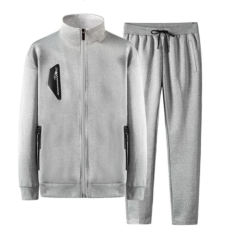 Men'S Sportswear Sets Casual Tracksuit Male New Fashion Spring Autumn Suits 2 Piece Sweatshirt+Pants Asian Size 7XL 8XL