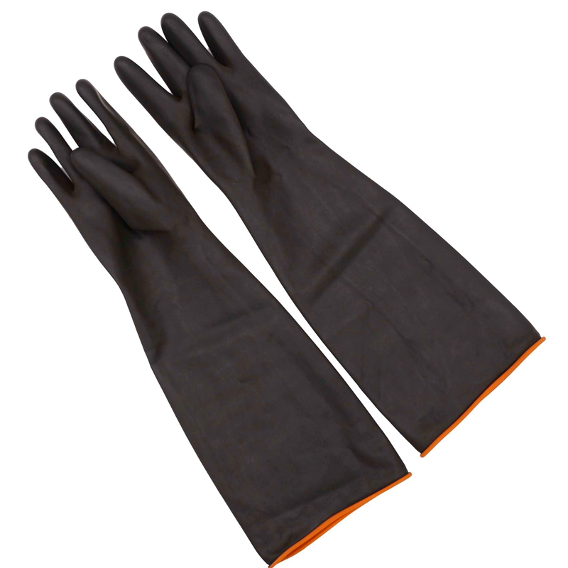 55cm Heavy Duty Chemical Resistant Rubber Glove Homebrew Acid Oil Resistant Latex Gloves For Home Industry Work Safety Gloves