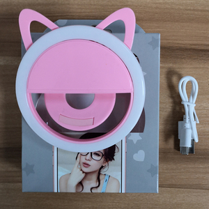 Image 5 - USB charge Selfie Ring Light Portable Flash Led Camera Phone Enhancing Photography for iPhone smartphones selfie light