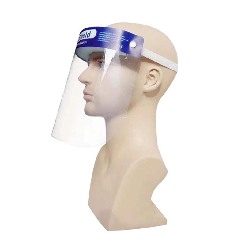 2PCS Transparent Adjustable Recyclable Anti-fog Protective Face Shields Professional Faceshield Protects Face